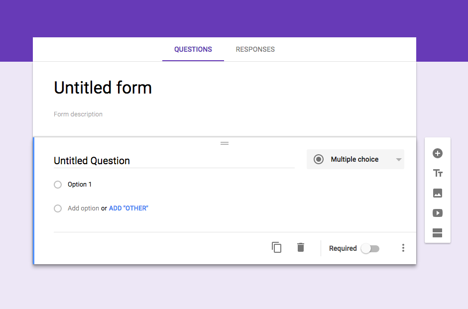 Create a new Google Form
